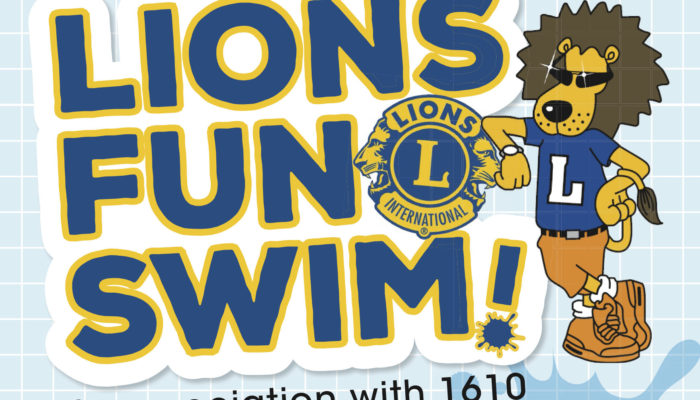 Dorchester Lions Fun Swim Poster