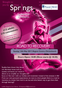 Road to Recovery Dance Poster