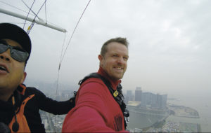 Will in Macau before the bungee jump