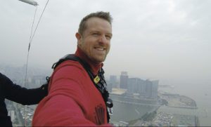 Will in Macau before the bungee jump Rotary goodbye