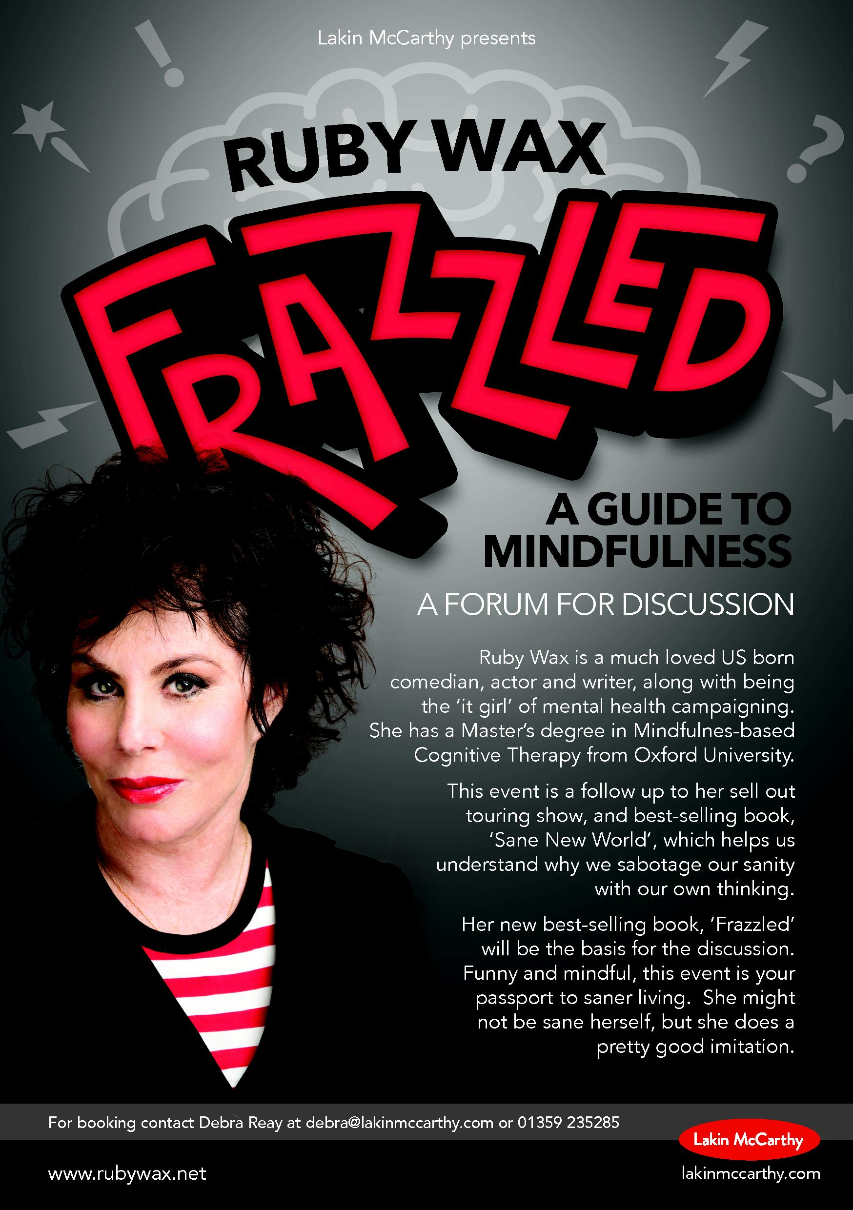 Ruby Wax Frazzled Tour