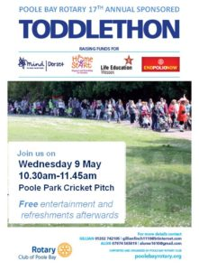 Poole Bay Rotary's 17th Annual Toddlethon @ Poole Park Cricket Pitch  | England | United Kingdom