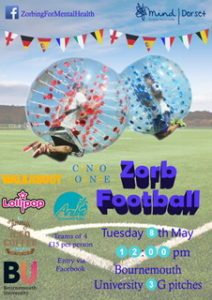 BU Zorb Football Event in aid of Dorset Mind @ Bournemouth University  | England | United Kingdom