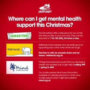 signpost to mental health support
