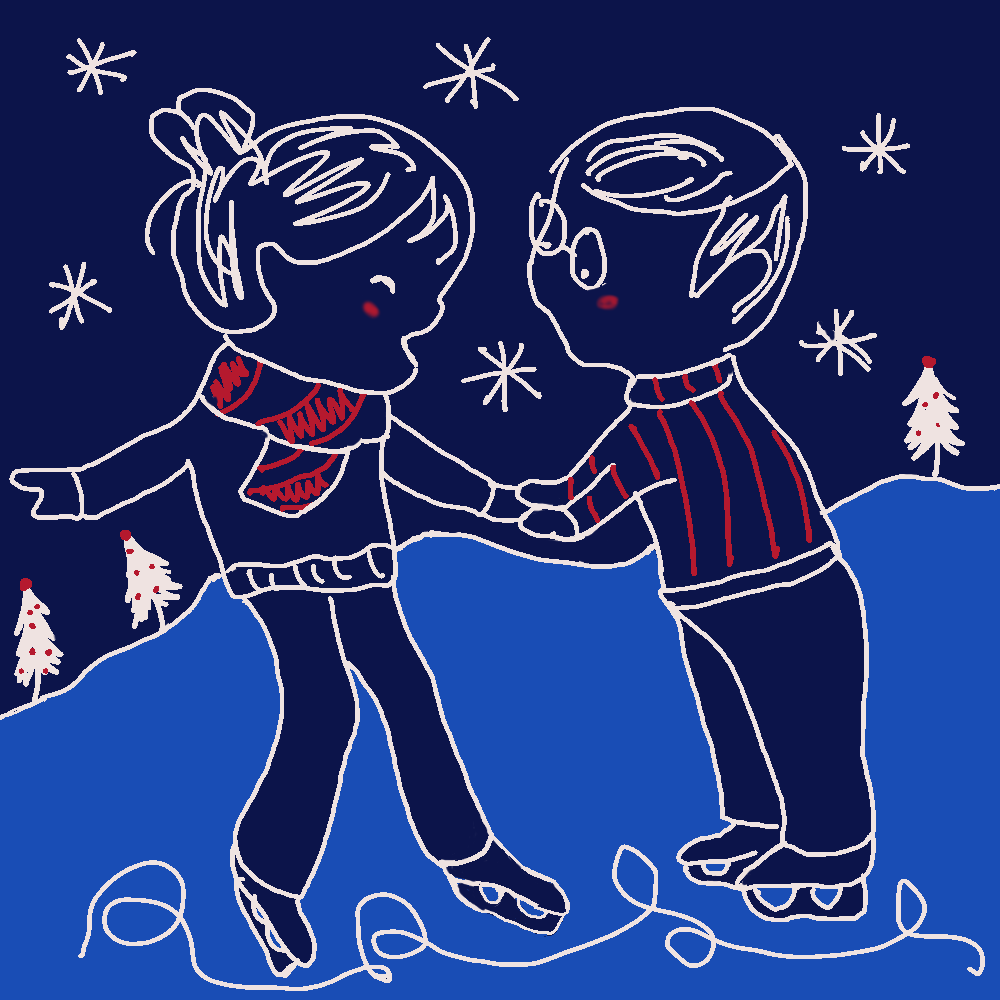 Christmas E-card – Ice Skating